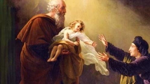 Bíblia - Elias revivendo o filho da viúva